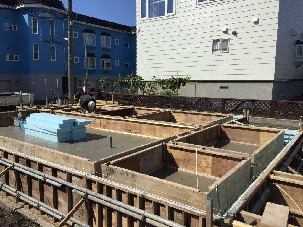 住宅の建築工事