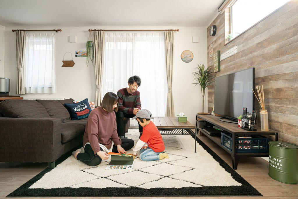江別市のオーナ様宅リビングルーム